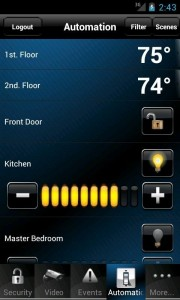 Home Automation - cell phone app