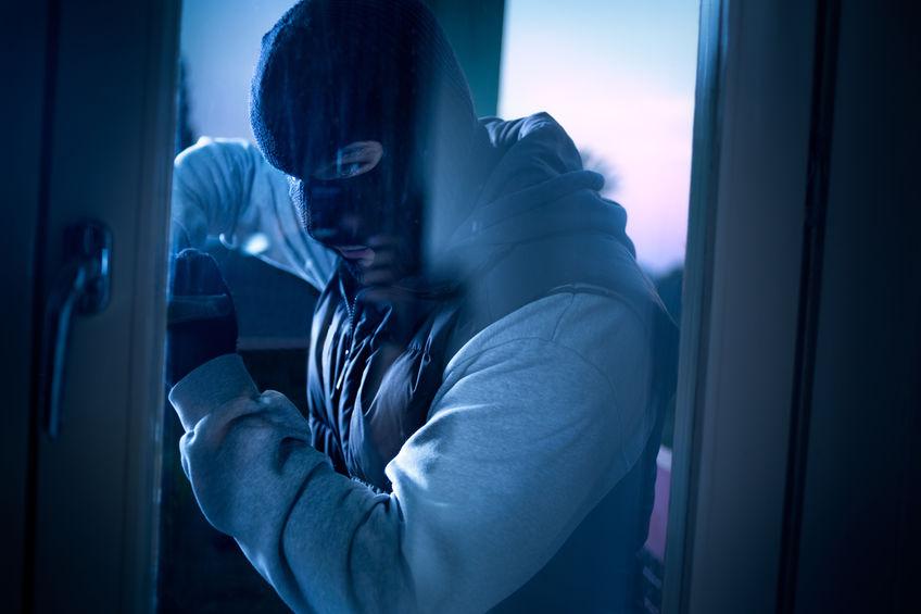 Burglar Trying to Break Into Home