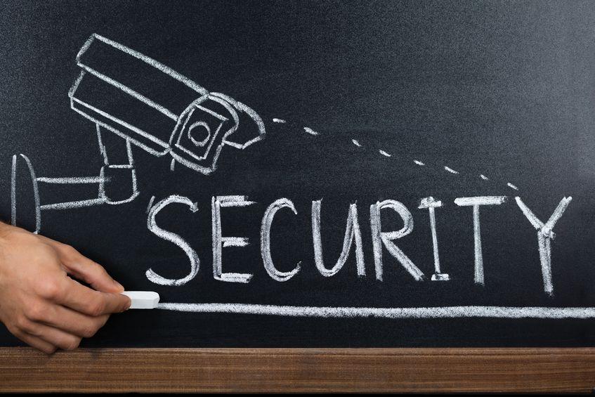 School Security Concept On Blackboard